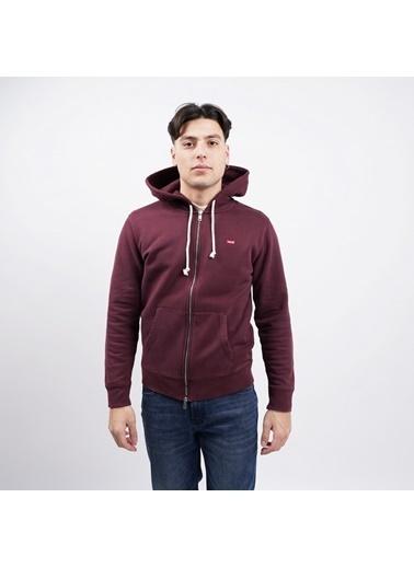 Levi's® Erkek Zip Hoodie New Original 34584-0005 Kırmızı